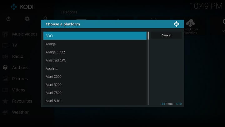 Kodi Addons for Games - Rom Collection Browser Addon