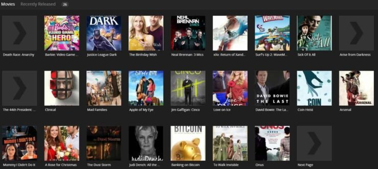 plex channels for movies