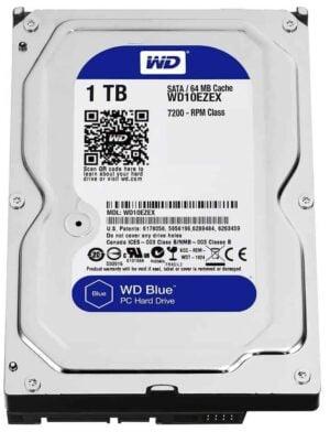 4K Kodi HTPC Western Digital 1TB Blue Sata Hard Disk