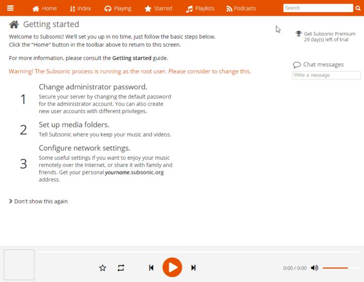 install Subsonic on Ubuntu