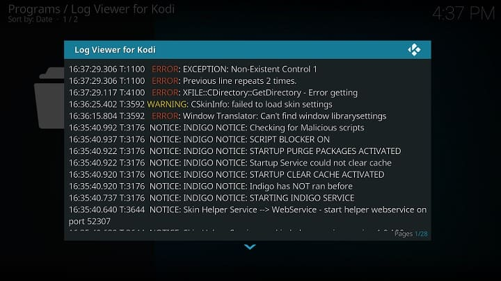 Kodi Log Addon