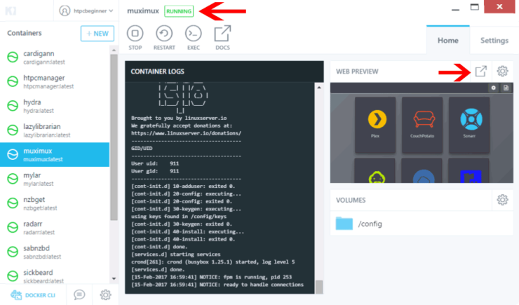 Install Muximux on Docker - Complete