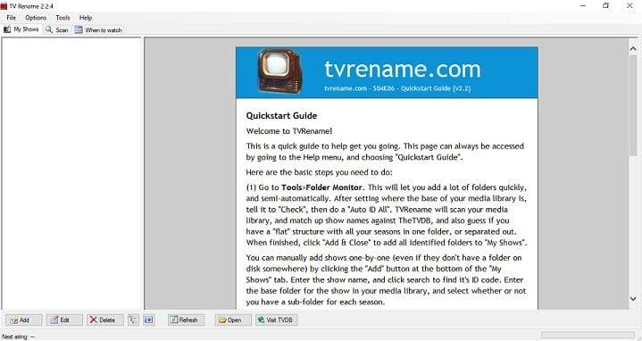 TV Rename Organize TV Shows