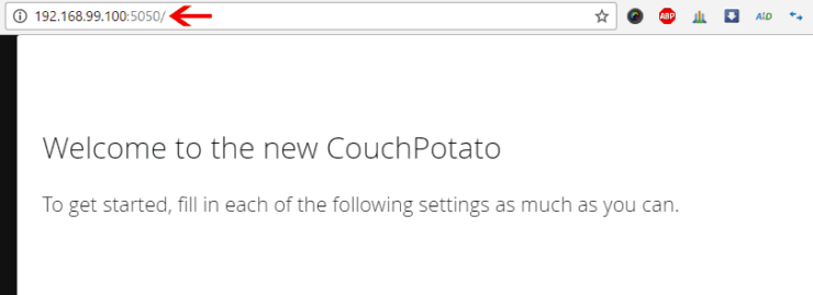 Access CouchPotato on Browser