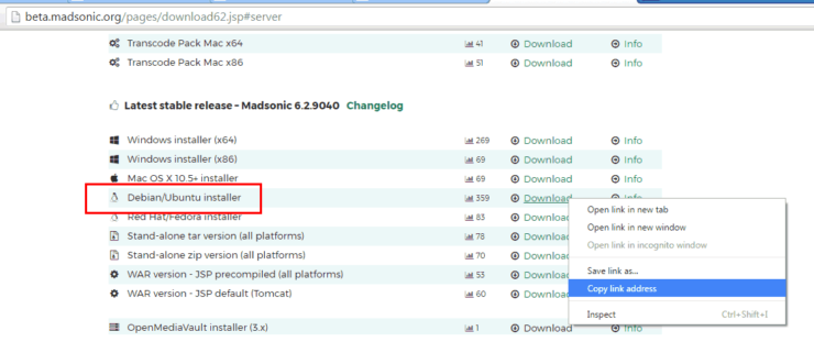 Download Madsonic for Ubuntu