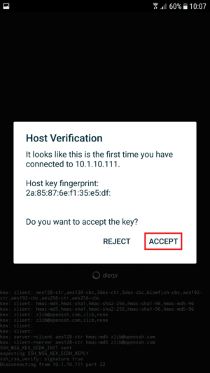 how to connect with ssh