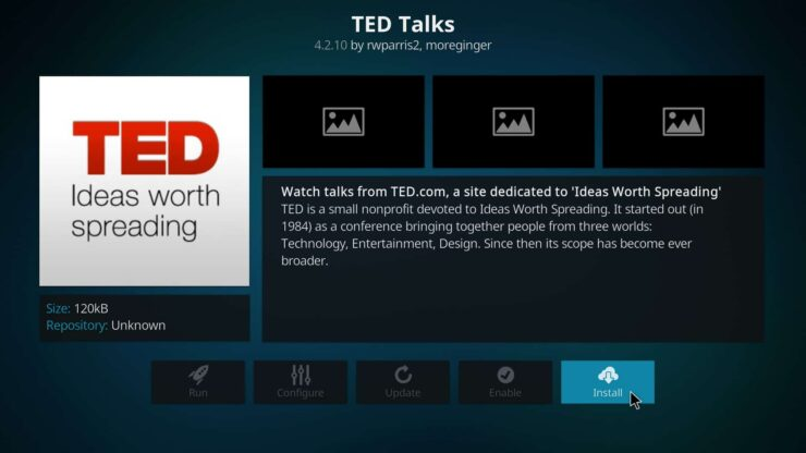 Watch TED Talks on Kodi image