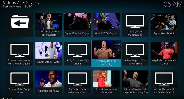 Kodi TED Talks addon image