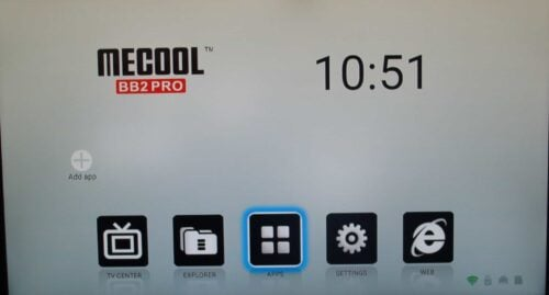 Mecool BB2 Pro Android TV Box - UI