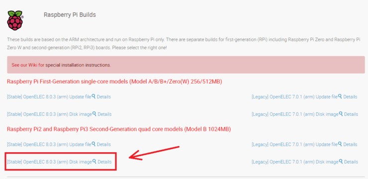 install openelec on raspberry pi 3 - download openelec for raspberry pi