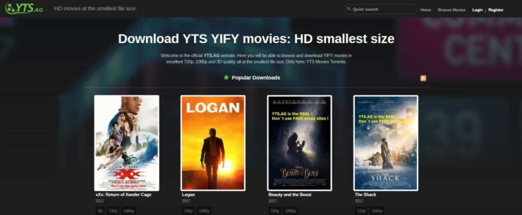 Best torrent sites in 2018 - YTS
