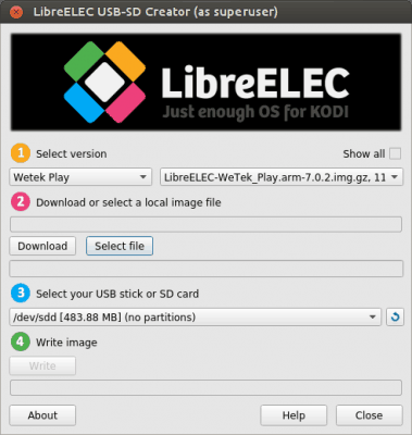 install libreelec on htpc - select file