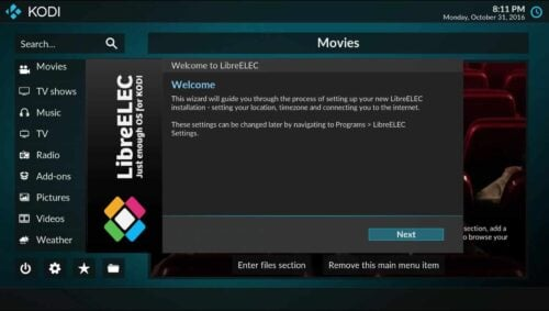 install libreelec on htpc - a just enough kodi os