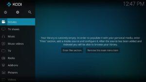 install Kodi snap app on Ubuntu - Kodi UI