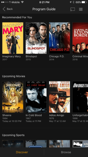 Plex DVR live TV - mobile app
