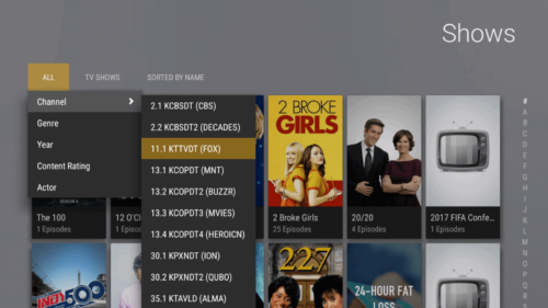 Plex DVR liv TV - Plex DVR desktop