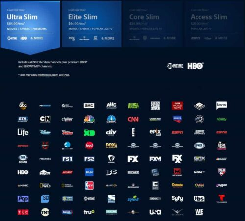 PlayStation Vue review - Plans