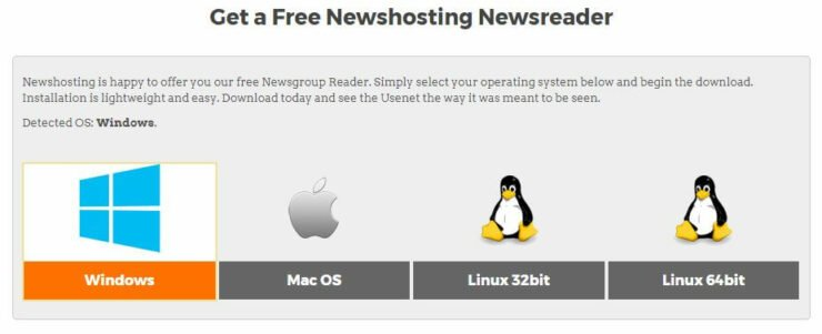 Select your operating system - usenet guide