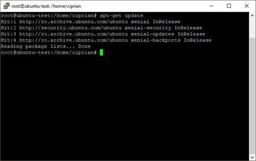 apt-get update performs an update to the package list - most used ssh commands
