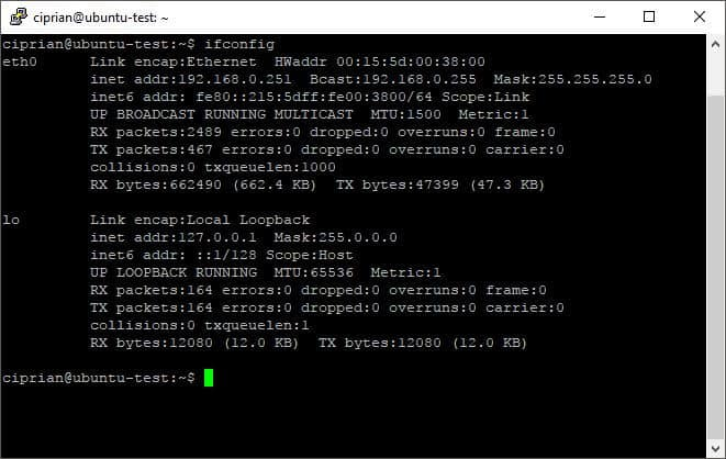 Ifconfig Command Showing Network Information - Vpn Kill Switch With Ufw