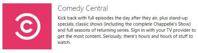 Comedy Central Xbox One - xbox one streaming options