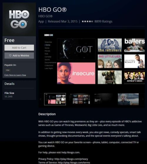 HBO GO® on PS4 - ps4 movie streaming