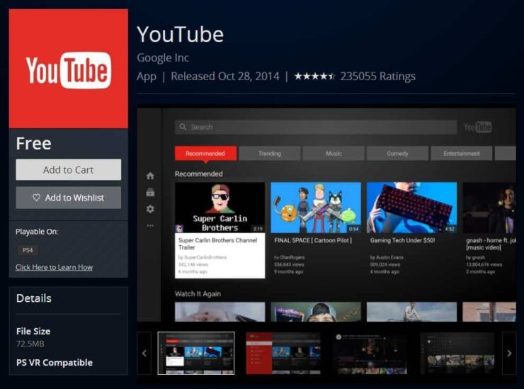 YouTube on PS4 - playstation 4 streaming apps