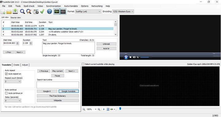 edit subtitles with subtitle edit - 5 best software to manually edit subtitles and correct synch errors