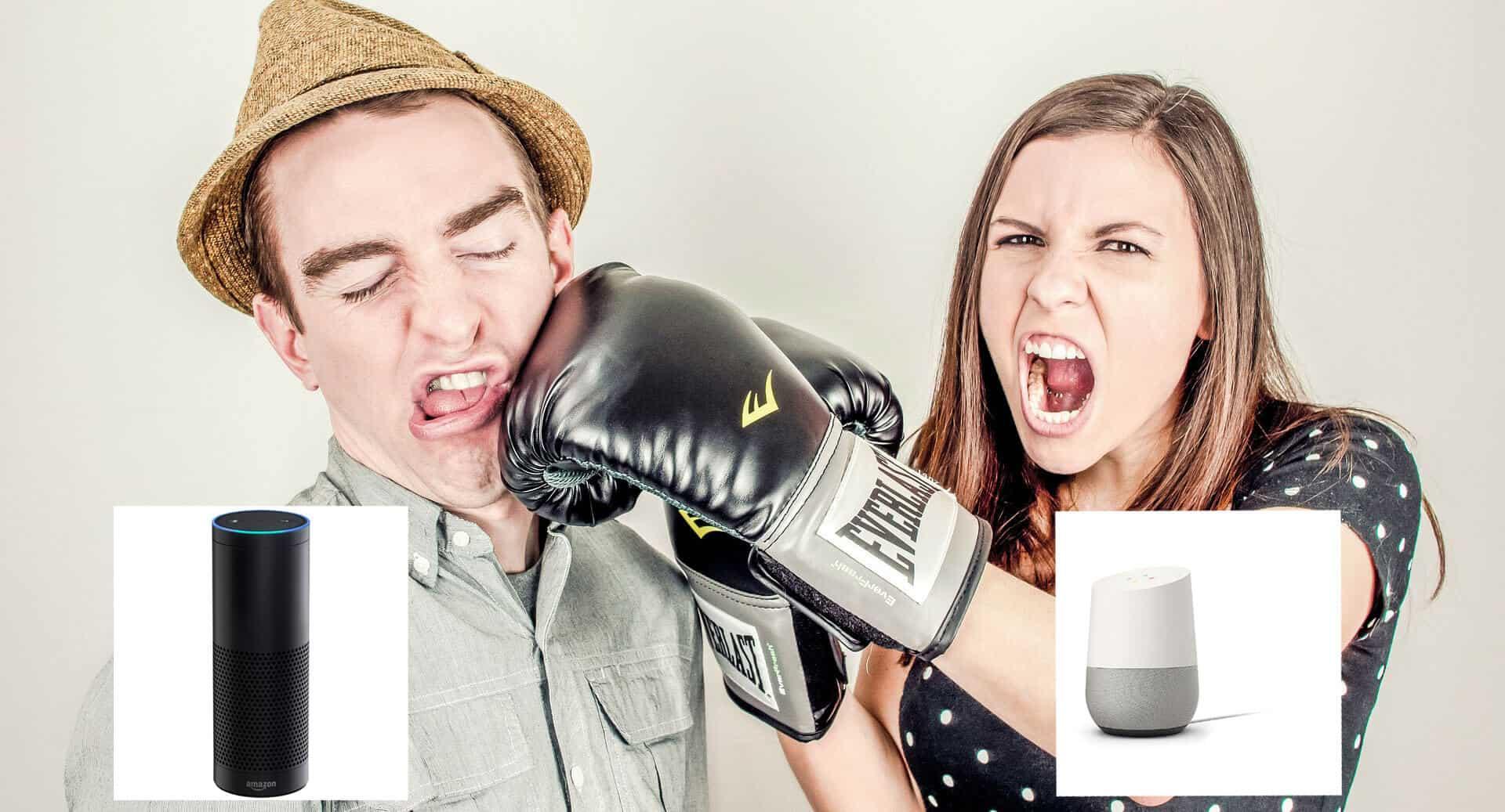 Google Home vs Amazon Echo hero 2