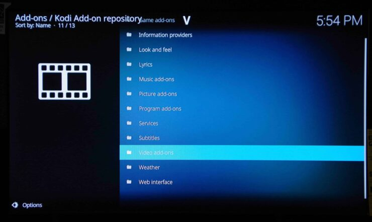 Kodi Video Addons