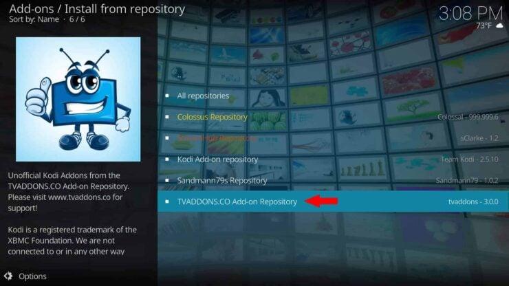 Kodi Indigo Addon setup from TVAddons Repository