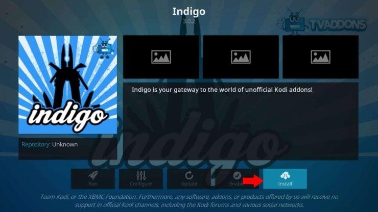 Install Indigo Addon on Kodi