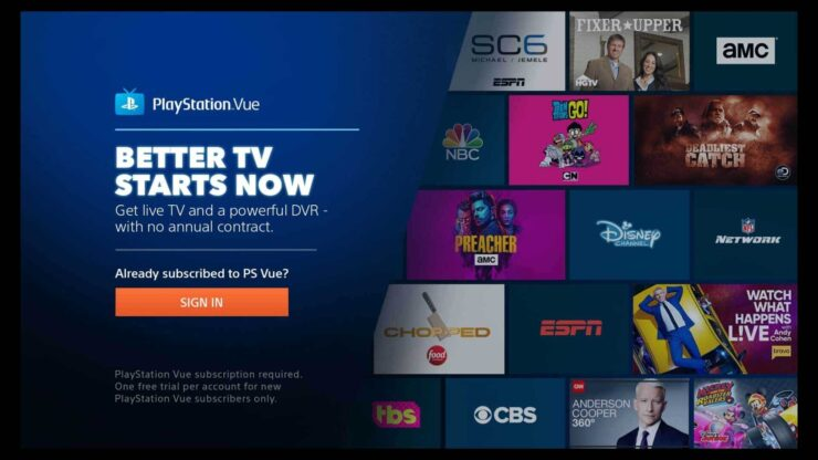 Use Playstation Vue with Root