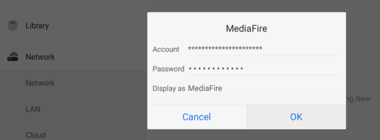 Connect ES File Explorer to Mediafire