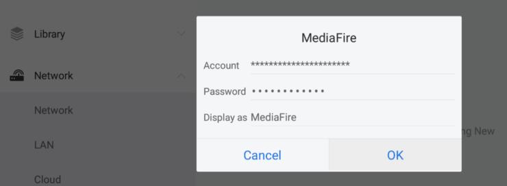 Connect ES File Explorer to Mediafire