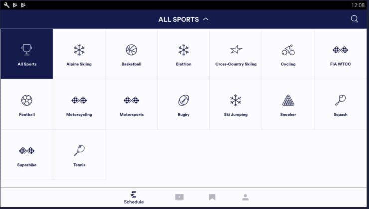Best Android Sports Apps - Eurosport Player