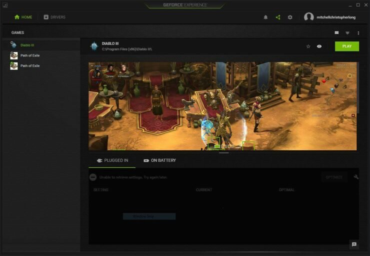 How to stream games to Nvidia Shield TV - GeForce Experience main page