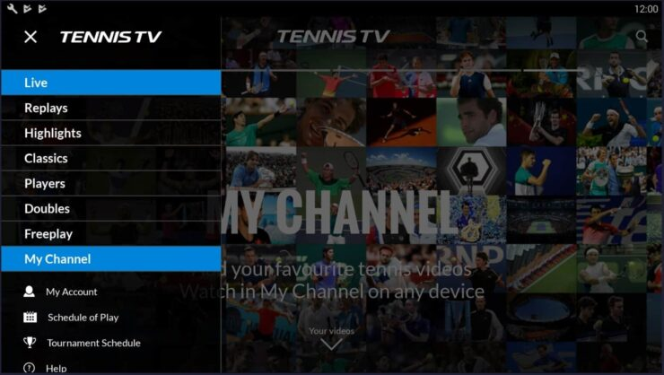 Android Sports Streaming Apps - Tennis TV