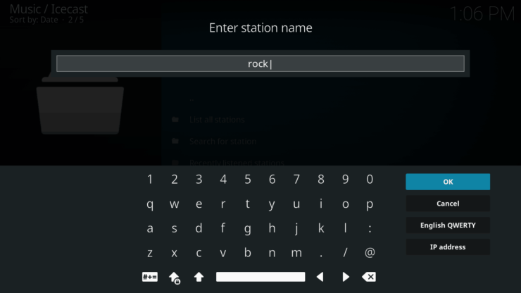 Searching for stations in Icecast addon for Kodi - Icecast Ices2 music server for Raspberry Pi