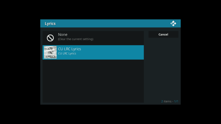 Setting CU LRC to display lyrics in Icecast addon in Kodi - Icecast Ices2 music server for Raspberry Pi