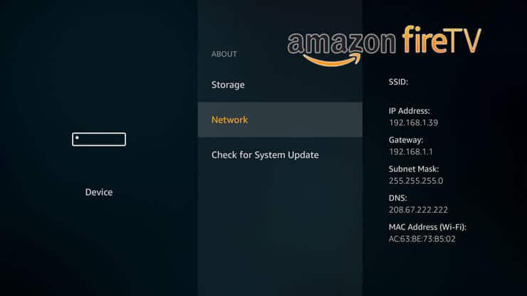 How to find Amazon Fire TV IP Address