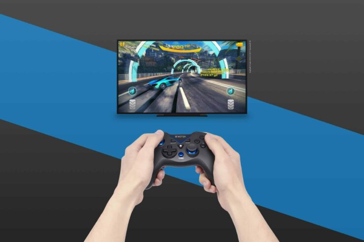WeTek gamepad announced - WeTek gamepad in action