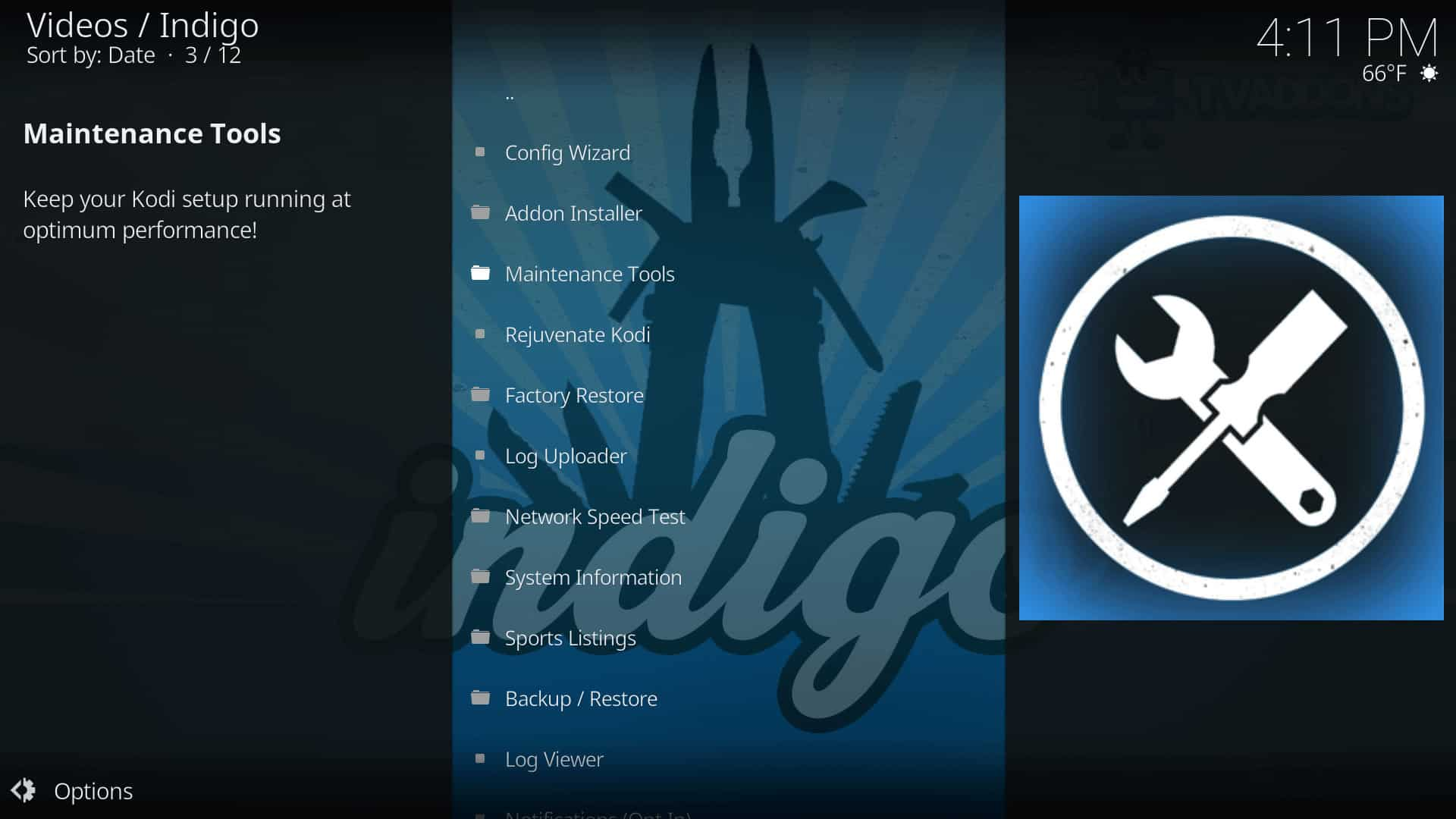 Install Indigo Addon on Kodi - Maintenance, Streaming, and more