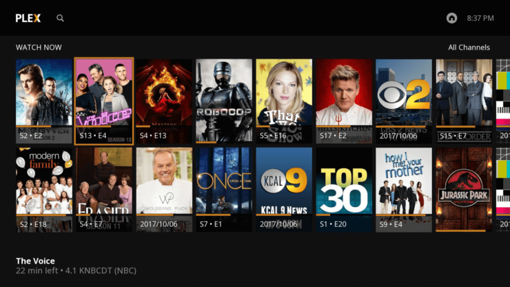 Plex Live TV for Roku - Roku Live TV feature