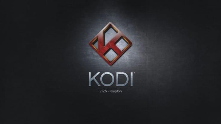 Kodi Krypton 17.5 splash screen