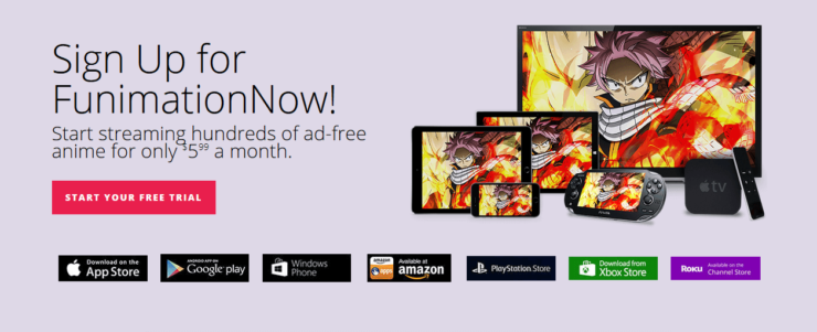 Funimation platorm availability - FunimationNow Android TV App