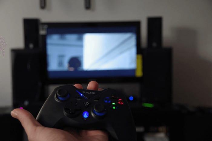 WeTek gamepad review - in action