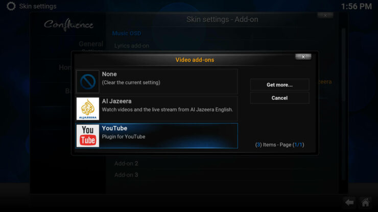 Video add-ons - How to add Favorites shortcut to Kodi homescreen