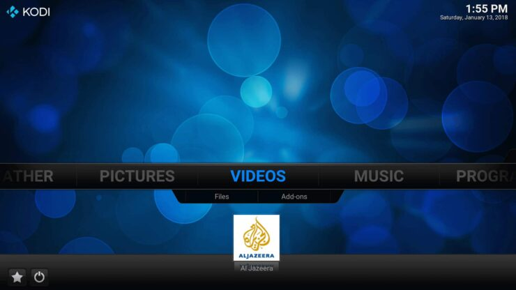 Homescreen favorites on Kodi - How to add Favorites shortcut to Kodi homescreen