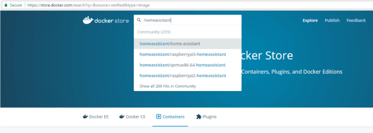 Search for Containerized Apps on Docker Store
